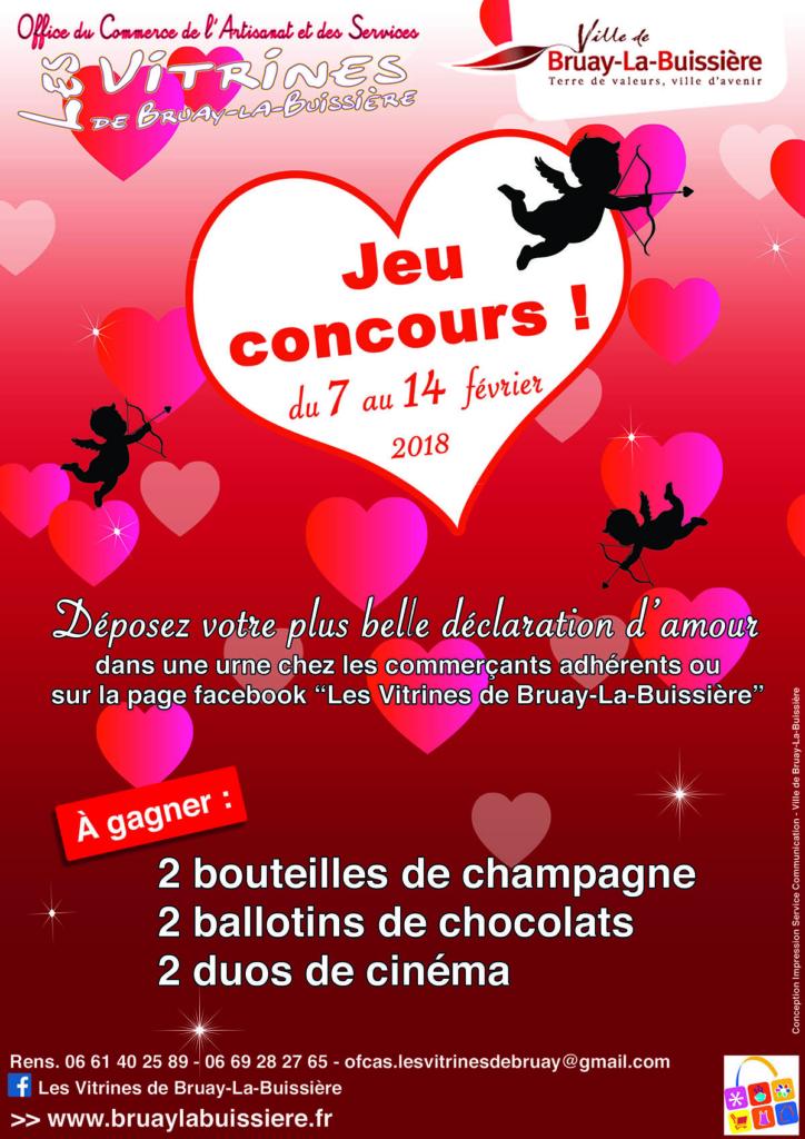 Affiche Saint Valentin 2018