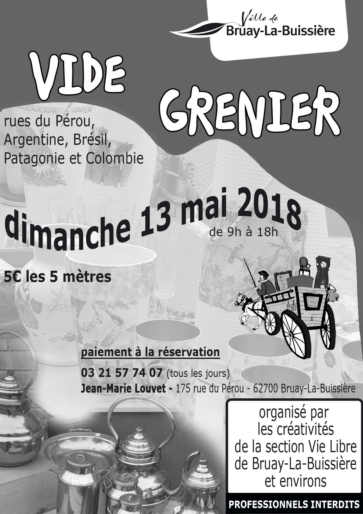 Vide grenier 13 mai 2018_Vie Libre