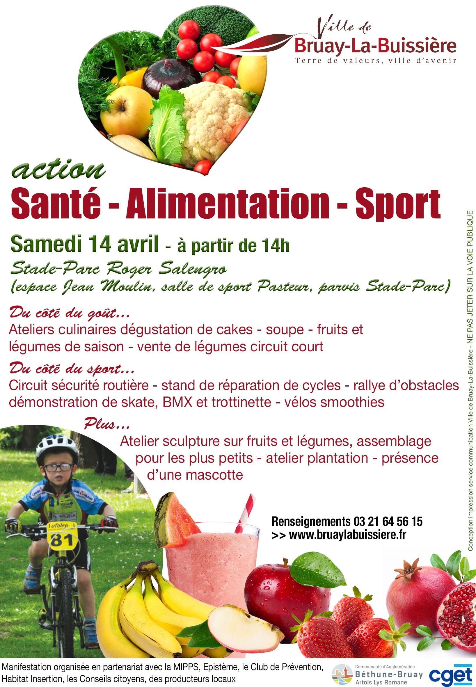 action santé alimentation sport