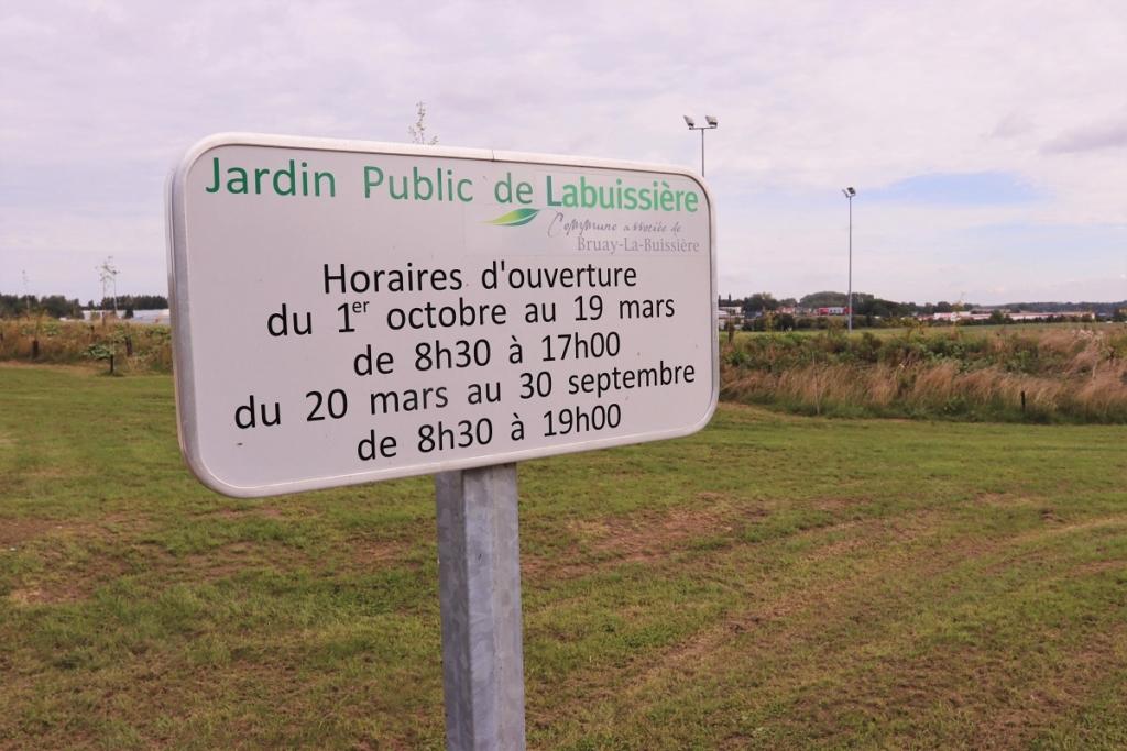 Inauguration Jardin public Labuissière