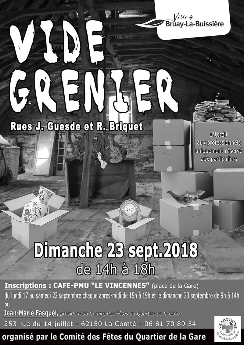 Vide grenier_Comité des Fêtes de la Gare
