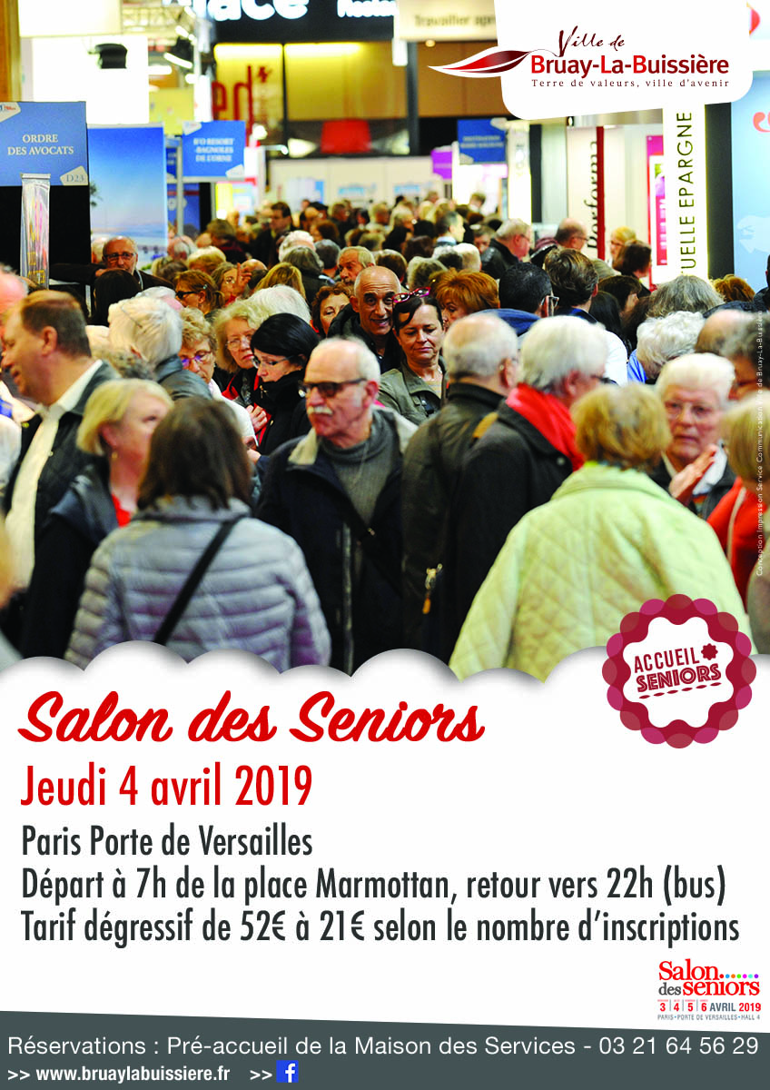 Affiche salon des Seniors 2019