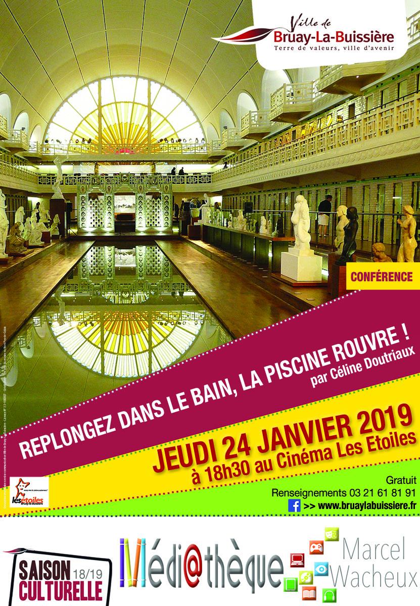 Affiche conférence musée piscine de Roubaix