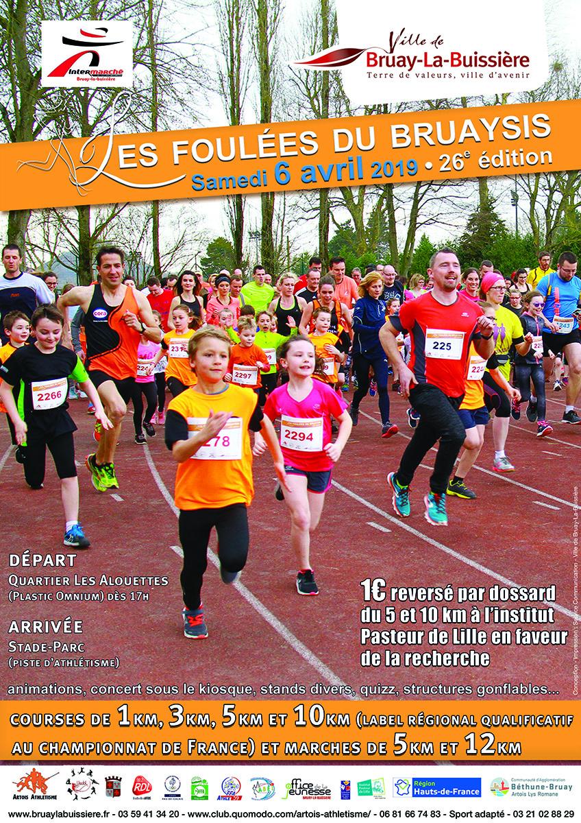 Les Foulées du Bruaysis 2019 @ Stade parc   Bruay-la-Buissière   Hauts-de-France   France