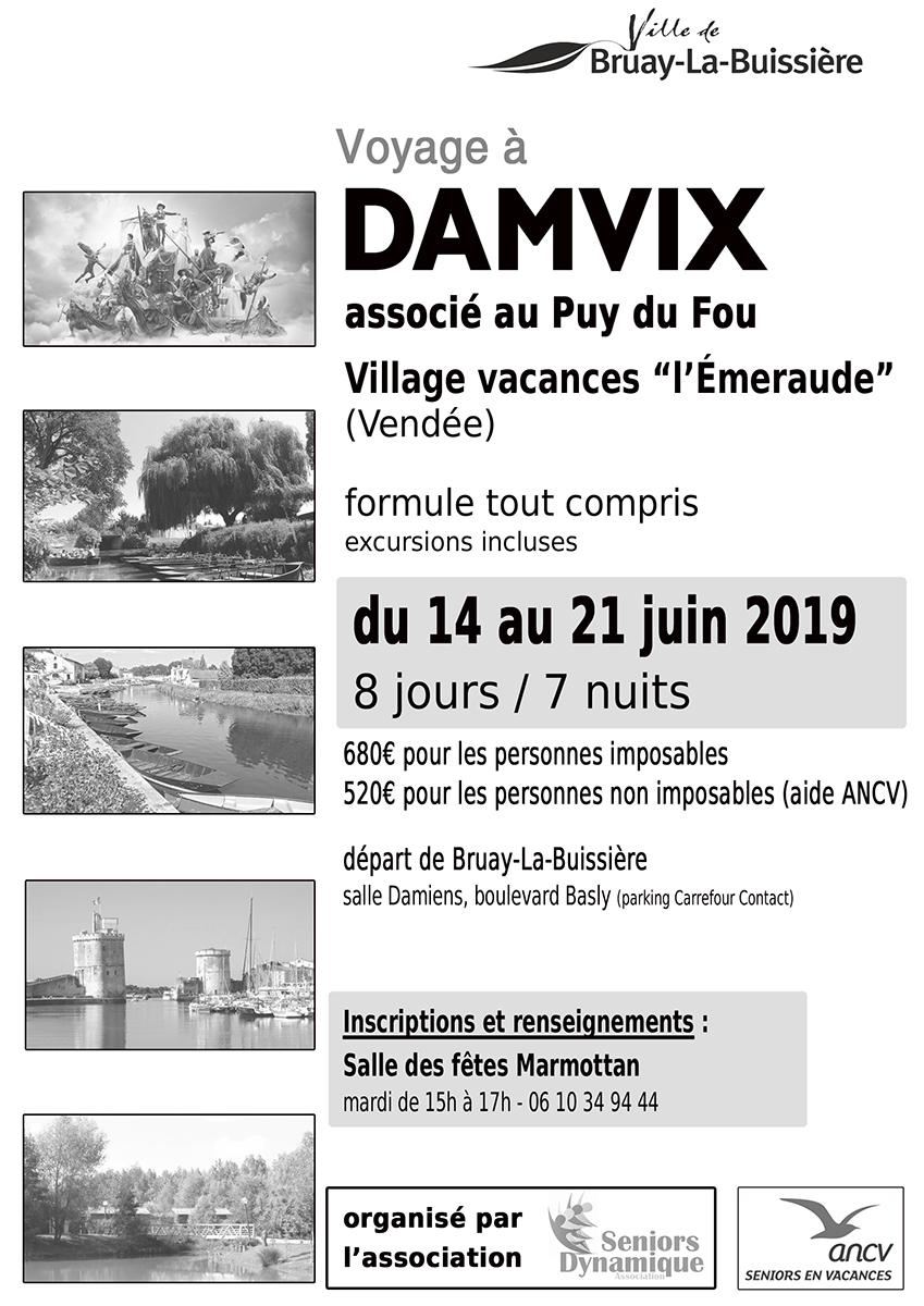 Affiche Damvix voyage