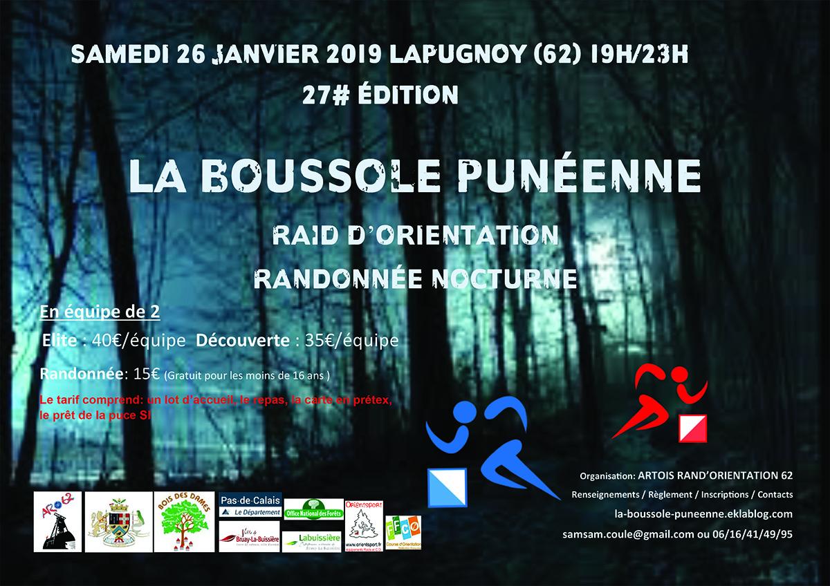 affiche boussole punéenne 2019