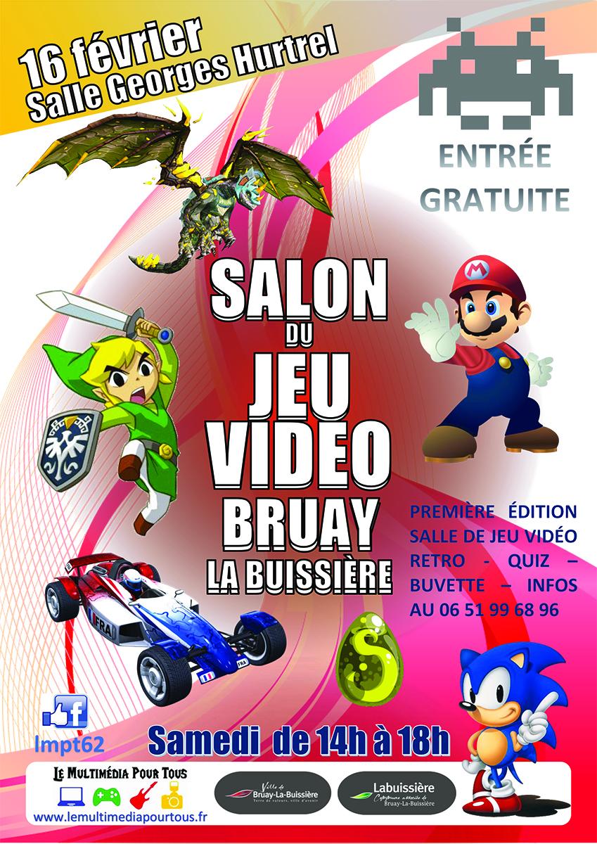 Affiche salon jeux vidéo