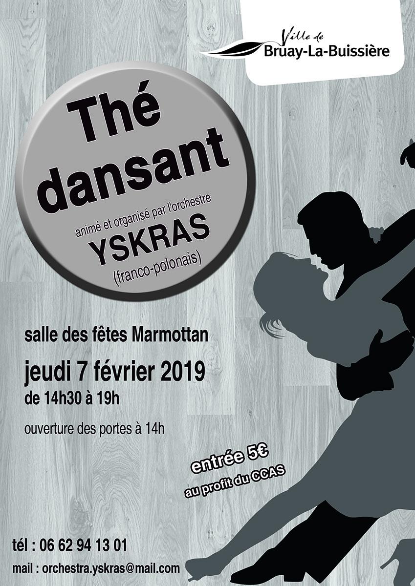 Affiche thé dansant Yskras