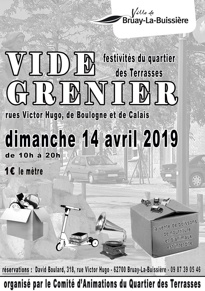 Affiche vide grenier du 14 avril 2019