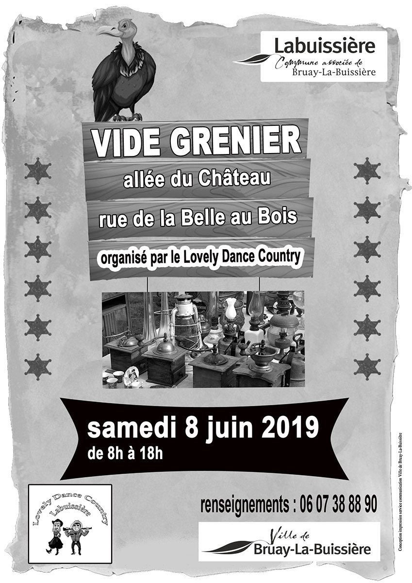 Affiche vide grenier Lovely Dance Country