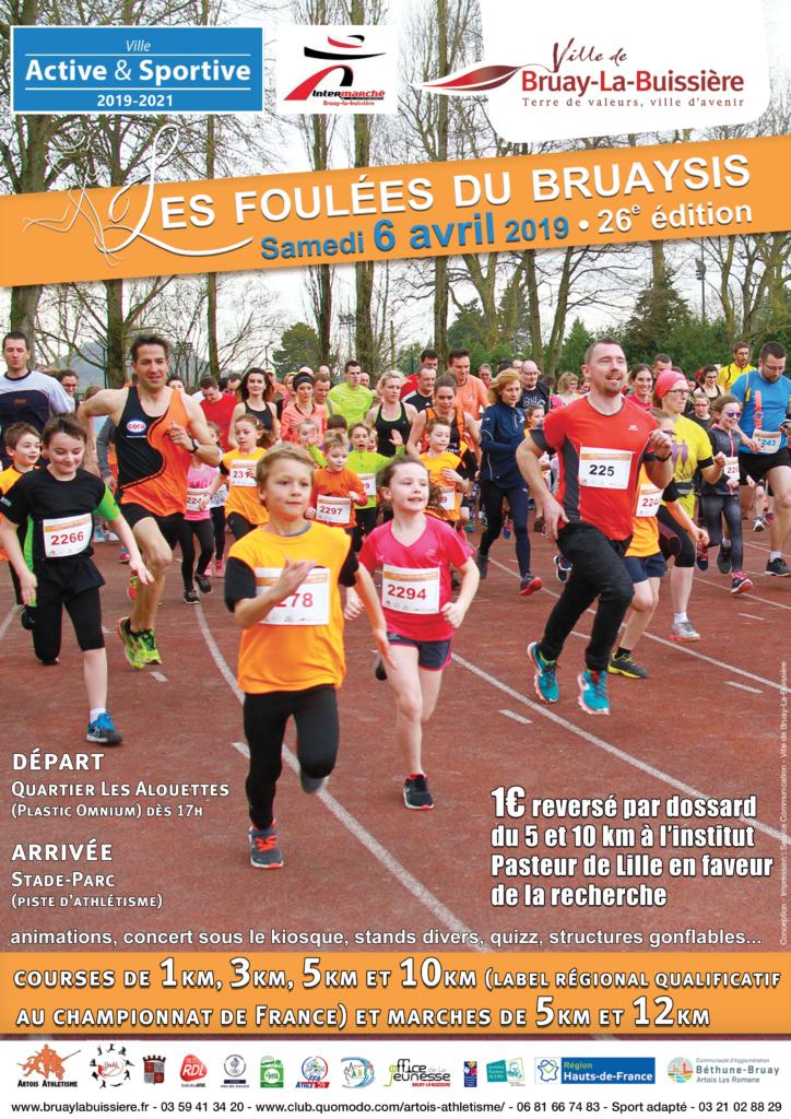 Affiche Foulées 2019 + Ville Active & Sportive