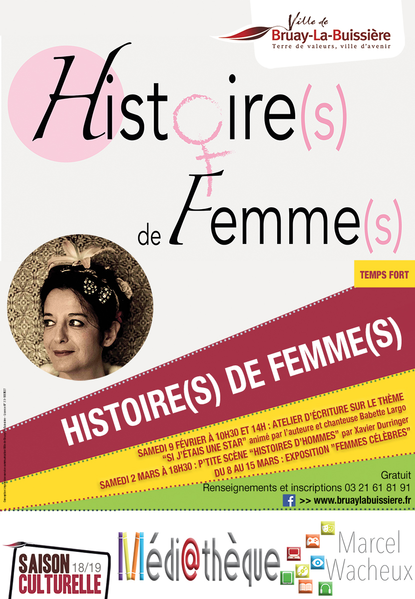 Affiche histoires de femmes Médiathèque