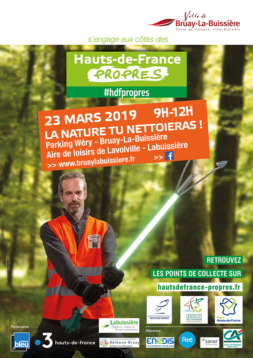 Affiche Hauts-de-France propres