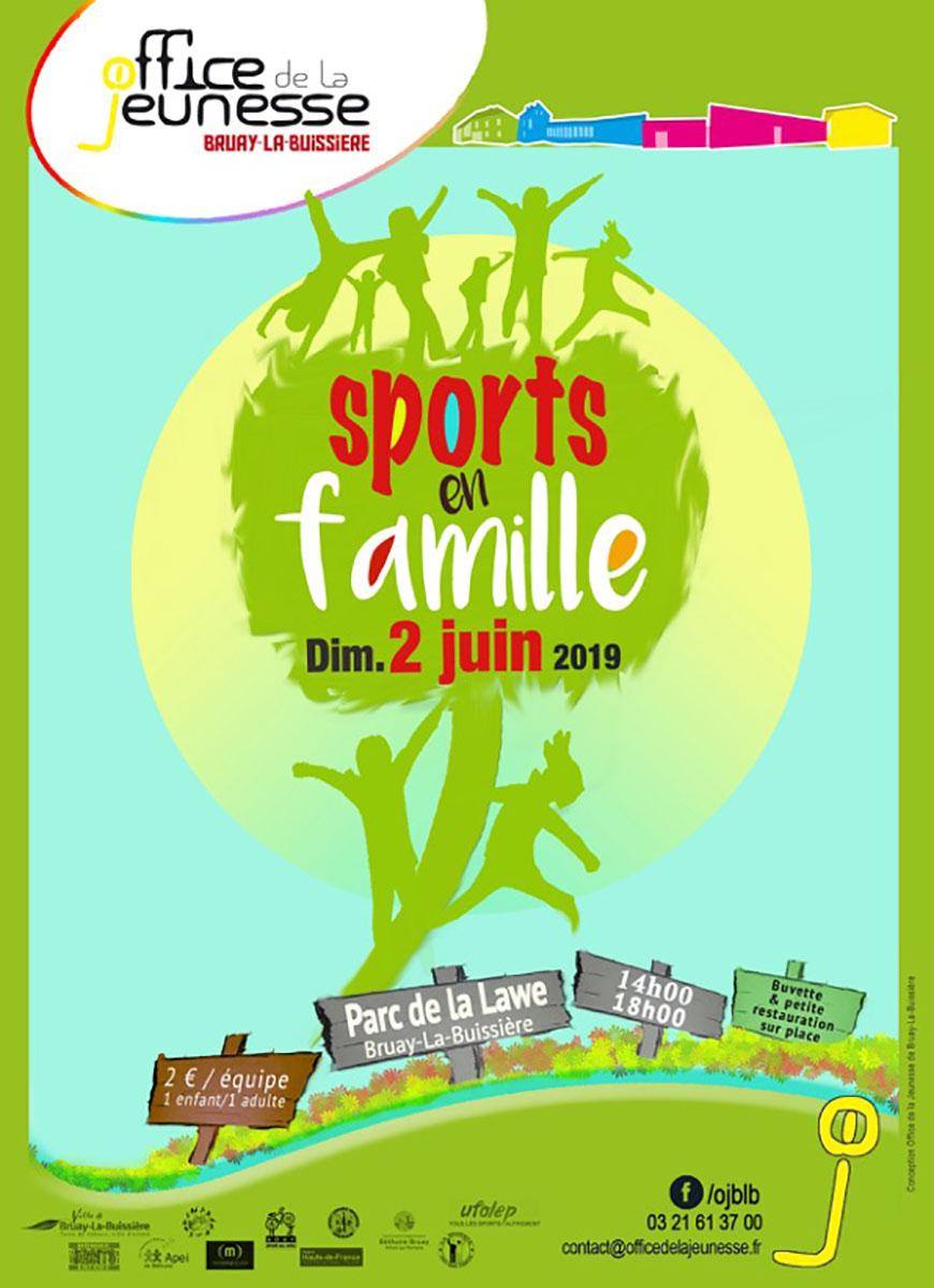 Affiche Sport en famille OJ