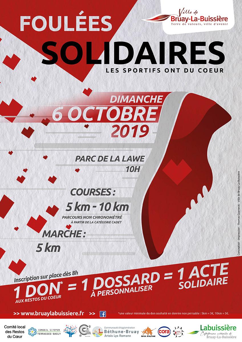 Affiche foulées solidaire 2019