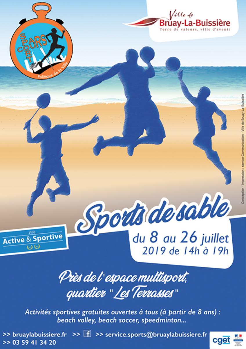 Affiche sports de sable 2019