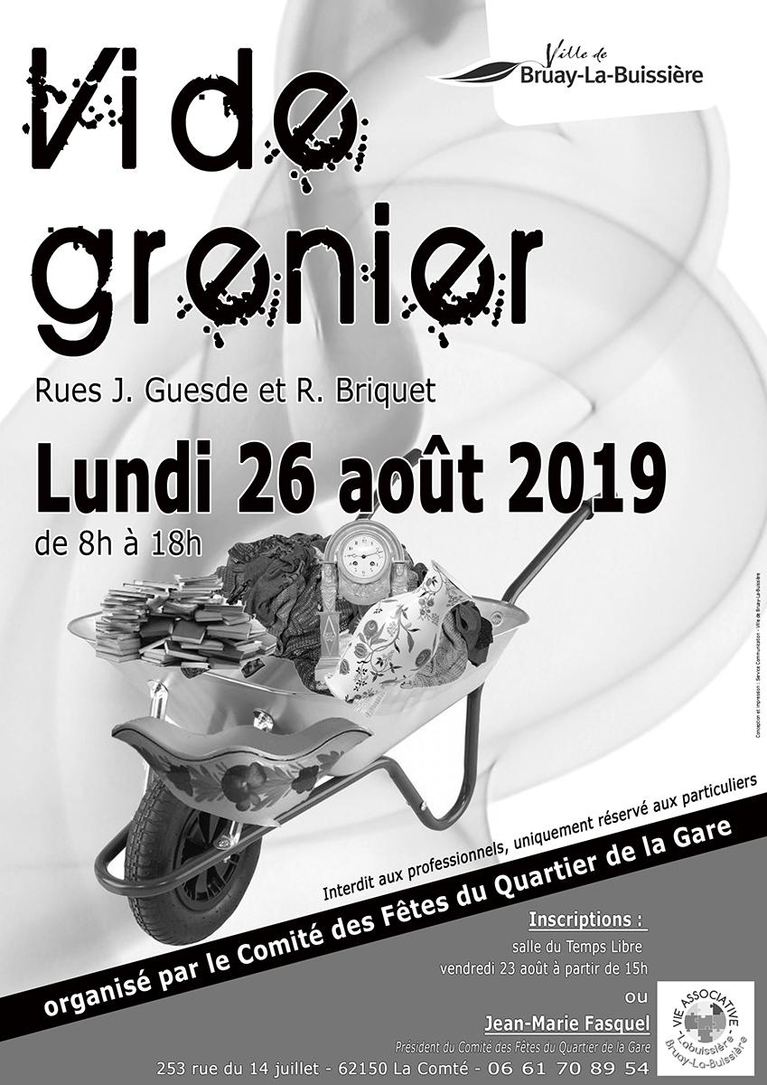 Vide grenier 26 aout 2019