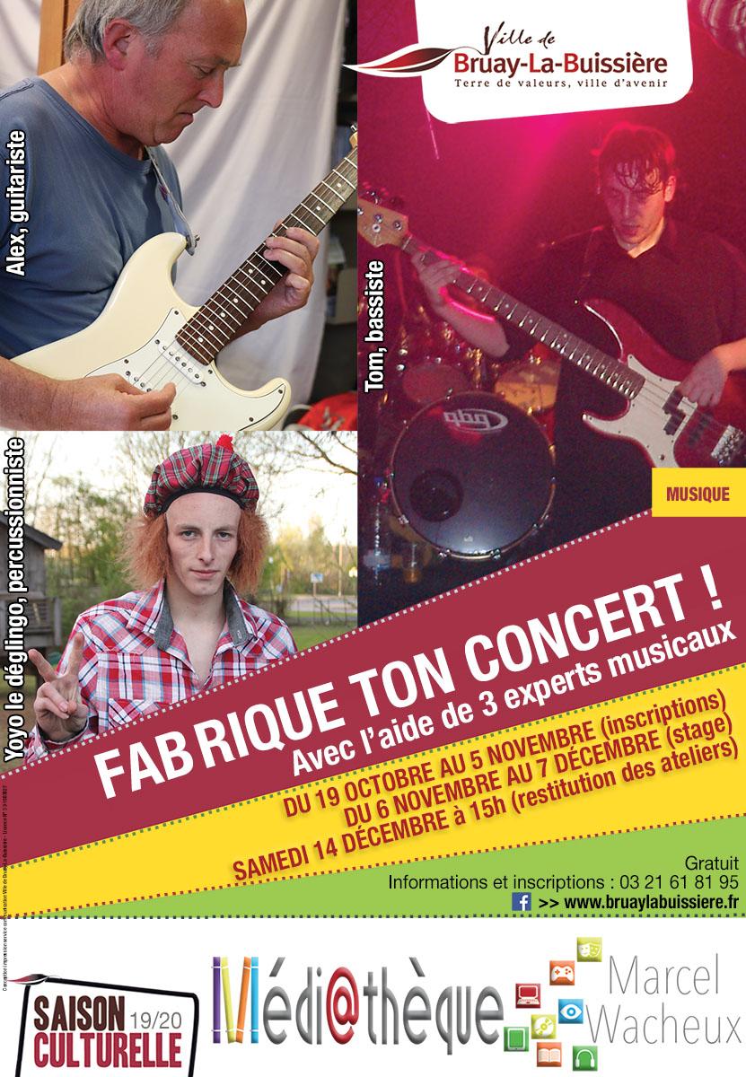 Visuel FABrique ton concert