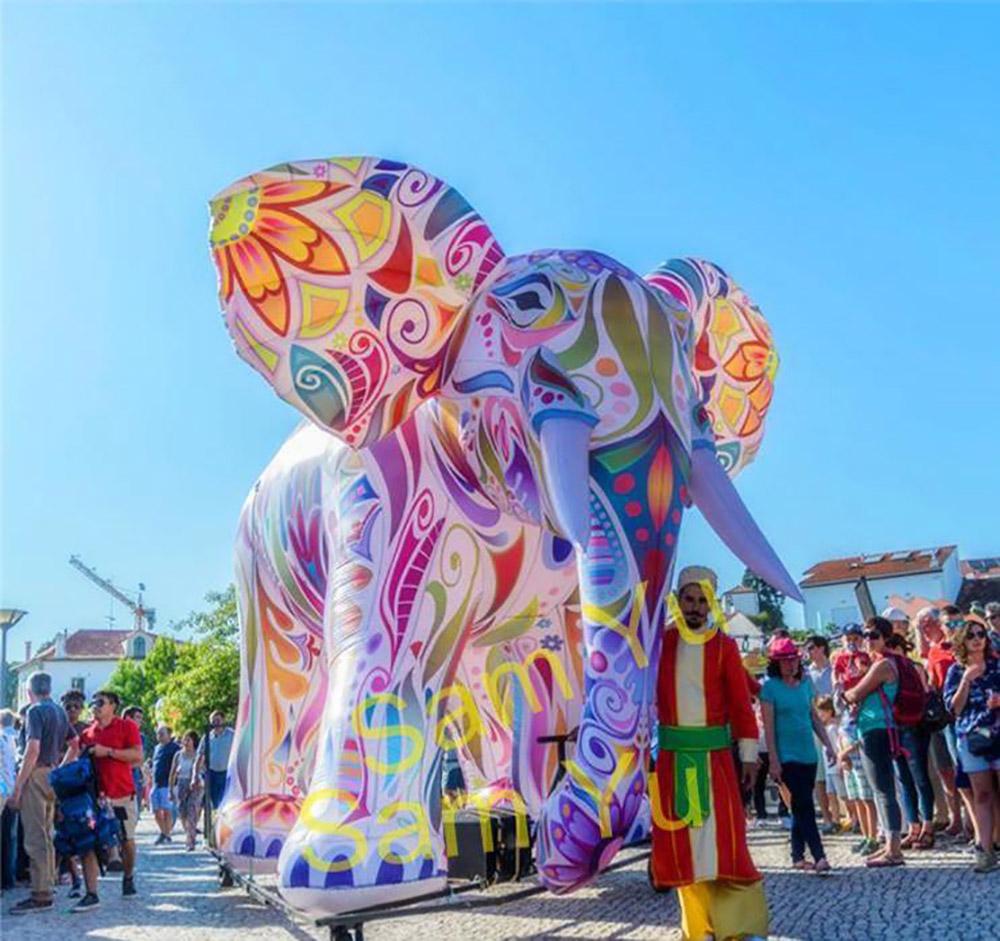 éléphant parc en scène