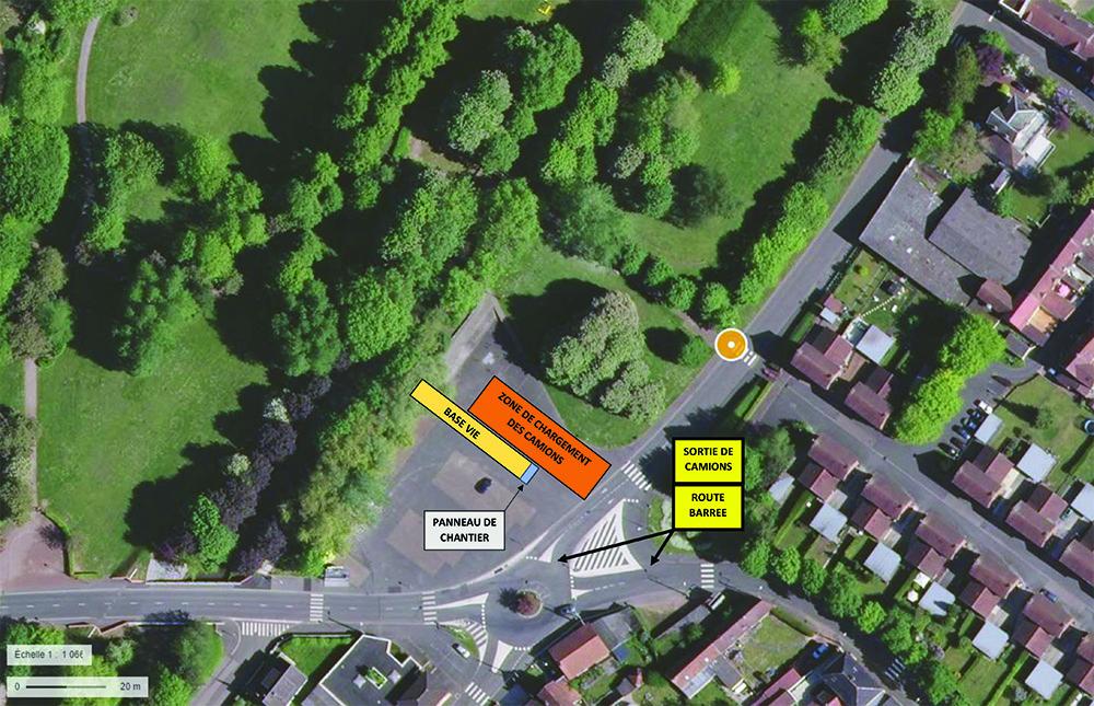 Plan implantation Base vie rue Wery