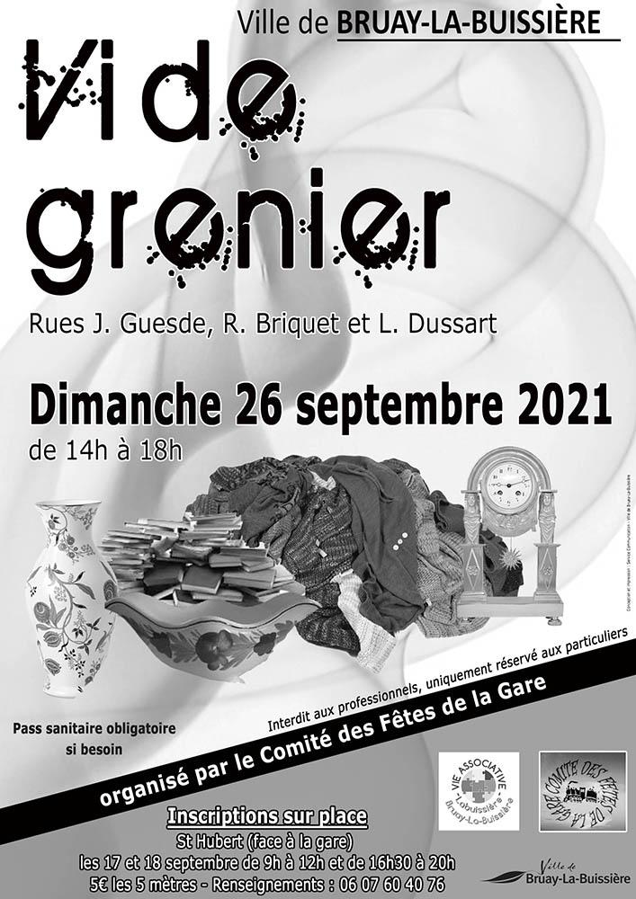 Vide grenier comité fêtes Gare 26 sept 2021